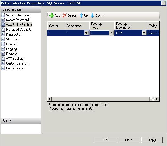 TSM 6 3: Backup SQL Database – Jackie Chen's IT Workshop