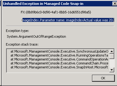 TSM: MMC Failed to Load IBM Flash Copy Manager Snap-in