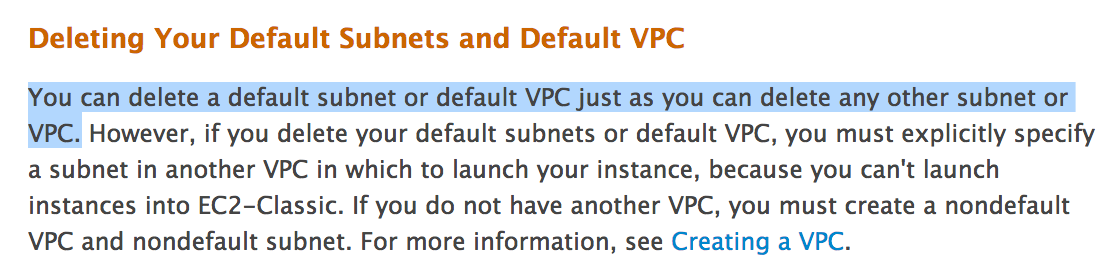 Can AWS default VPC be deleted? – Jackie Chen's IT Workshop